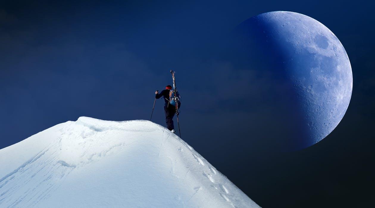 Skigåer på topptur